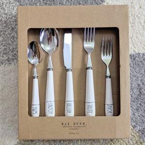 Rae Dunn 5pc Cutlery Set NIB